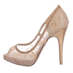 Valentino nude peep toe heels